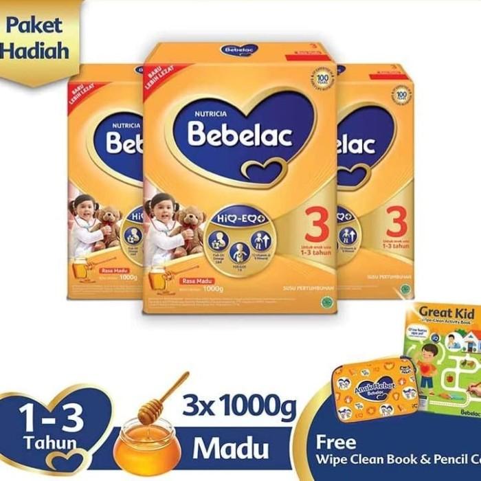 Foto Produk Bebelac 3 Madu [1000 g] + Free Pencil Box & Wipe Clean Book dari Sunny shop 83
