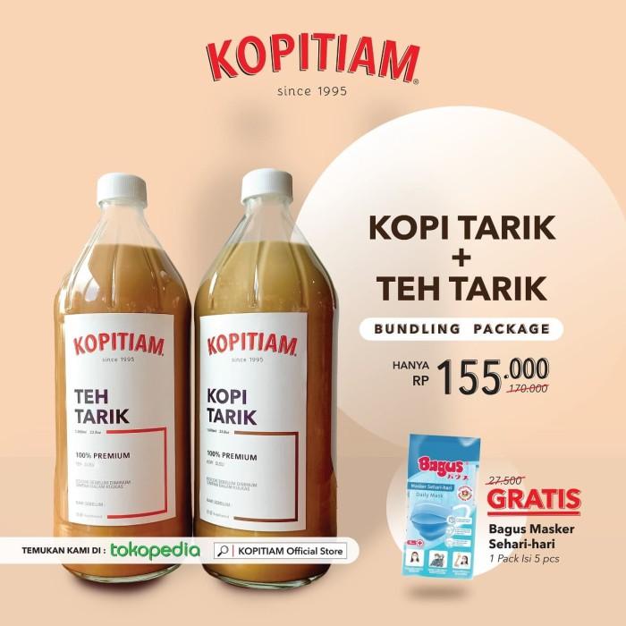 Foto Produk Kopi Tarik + Teh Tarik Kopitiam dari KOPITIAM OFFICIAL STORE