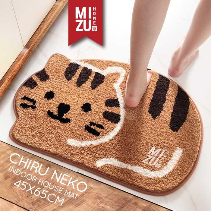 Foto Produk CHIRU NEKO Indoor House Mat Keset Bulu Rumah Kamar Anti-Slip 45x65cm - BROWN cokelat dari MIZU HOME
