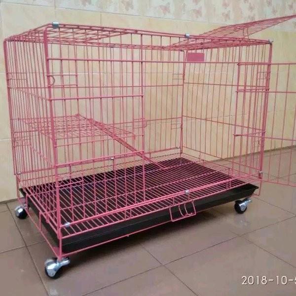 Foto Produk sangkar kandang kucing kelinci anjing jumbo pakai roda dari snditostore