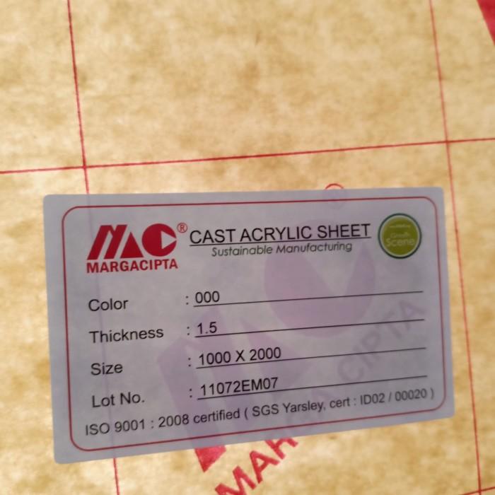 Foto Produk Lembaran Akrilik Bening 100x200 tebal 1,5 mm clear dari Medya Sukses