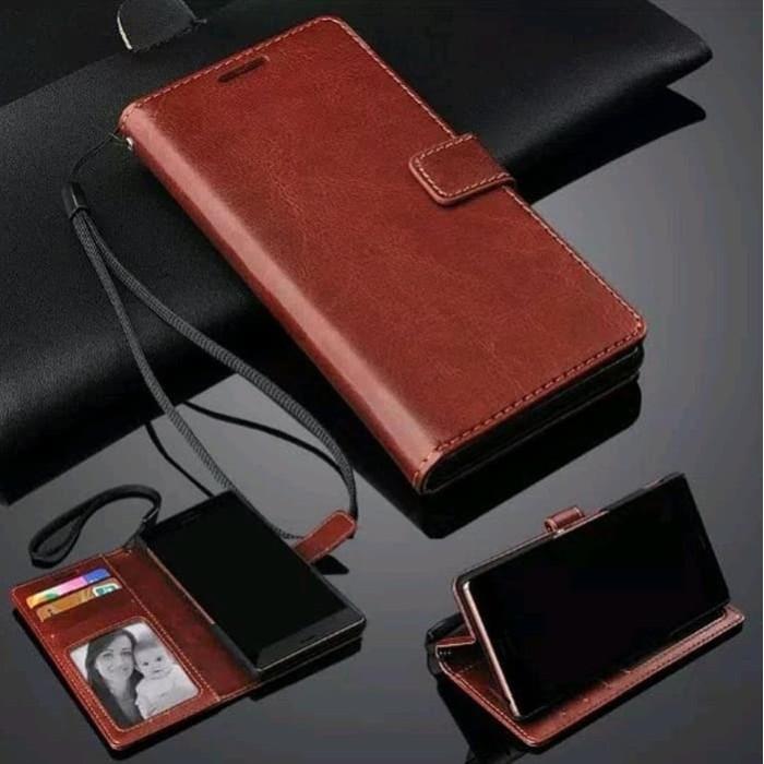 Foto Produk Leather Flip Cover Redmi Note 9 Pro -Xiaomi Wallet Casing Sarung Kulit - Hitam dari TOEX