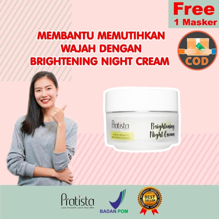 Foto Produk Brightening Night Cream Pratista QNOL dari halimah kosmetiku