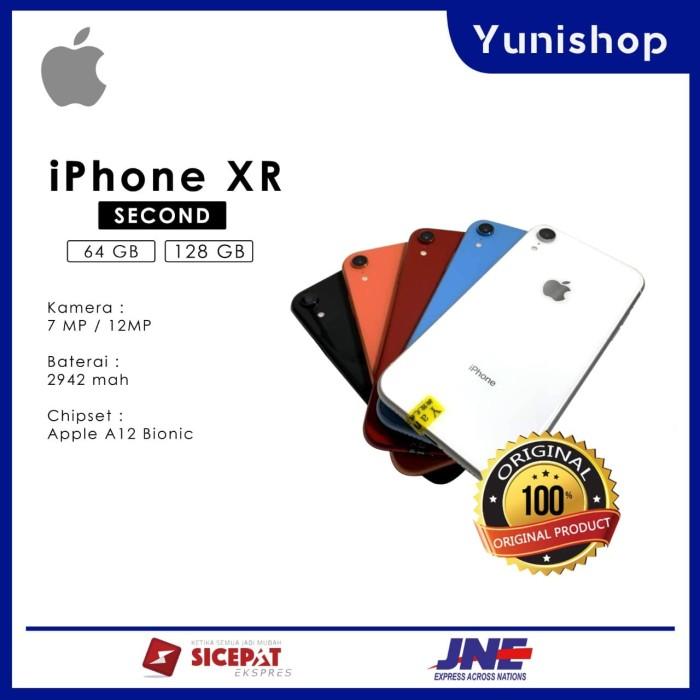 Foto Produk IPHONE XR 64GB Second original mulus - Hitam dari yunishop00