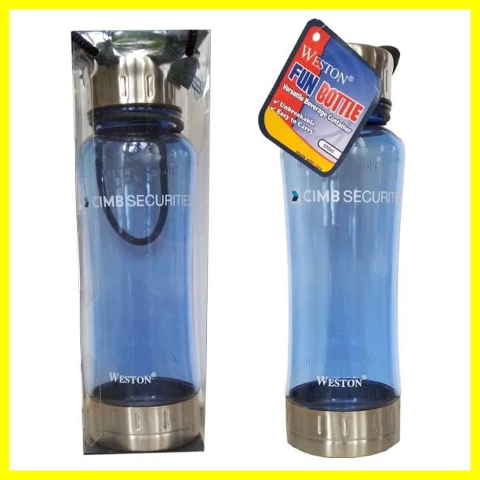 Foto Produk Weston Fun Bottle Botol Minum Olahraga Sepeda 600ml Souvenir Bank CIMB dari Iyesh Online Store