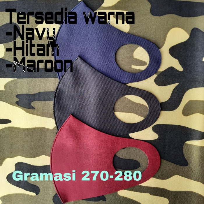 Foto Produk READY STOCK Masker Bahan Scuba Warna Navy dari Hellypros