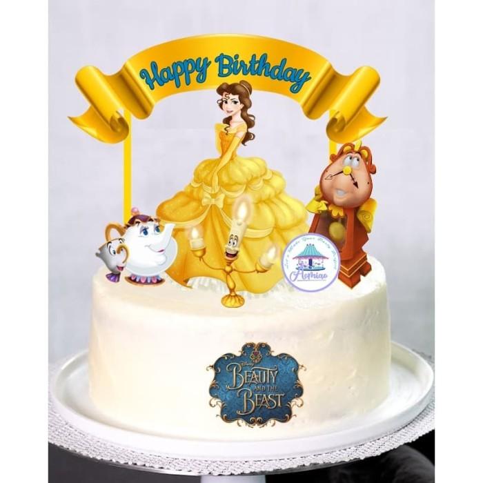 Jual Princess Belle Cake Topper Kota Bogor Aomiao Tokopedia