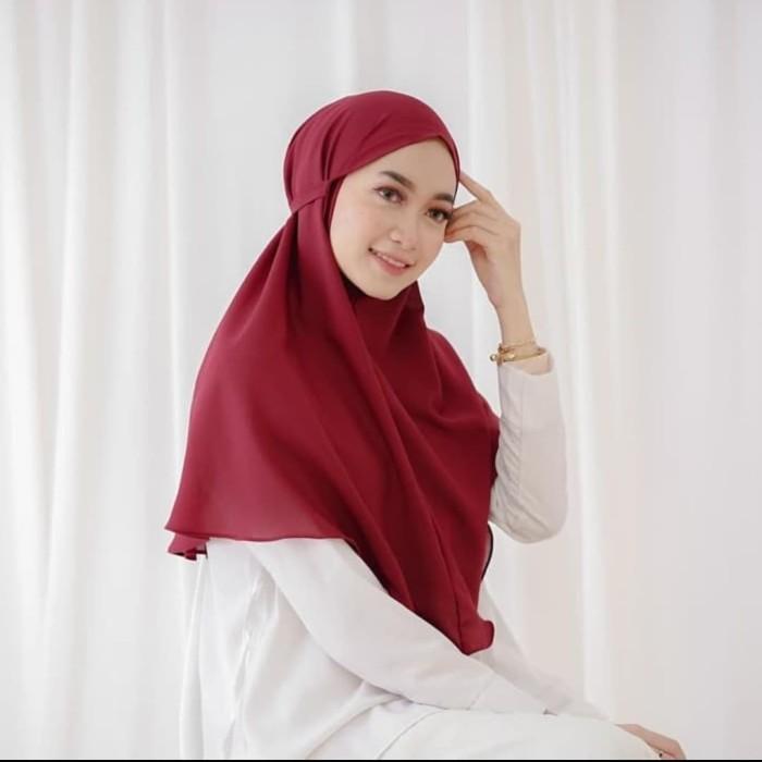 Jual Jilbab Bergo Maryam Kerudung Khimar Tali Hijab Instan Non Pet Syar Hitam Jakarta Barat Busana Muslim Col Tokopedia