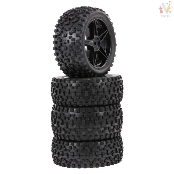 Foto Produk ❤RCC❤ 4PCS 1/10 RC Off-road Tyre Nail Block Tread Pattern dari STYLISSTORE ID