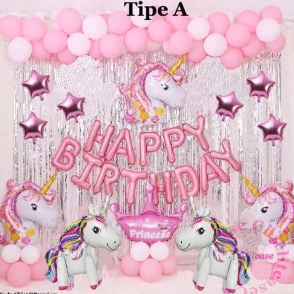 Jual Set Balon Foil Unicorn Pony Pink Happy Birthday Ulang Tahun Pesta Jakarta Barat Yatra Kirtana Tokopedia