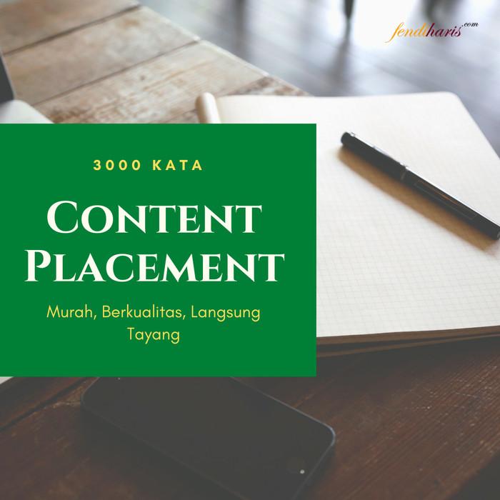 Foto Produk Layanan Content Placement Berkualitas Untuk Perusahaan - 3000 Kata dari fendihariscom