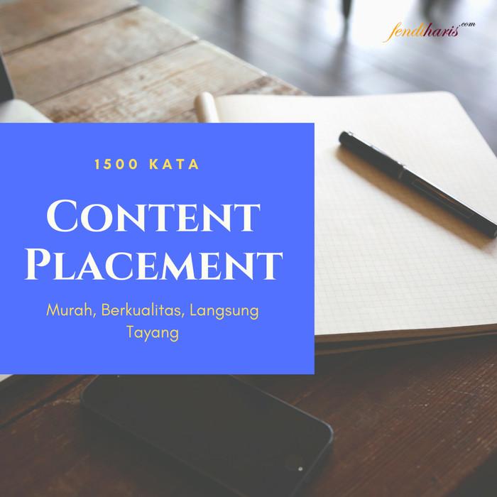 Foto Produk Layanan Content Placement Berkualitas Untuk Toko Online - 1500 Kata dari fendihariscom