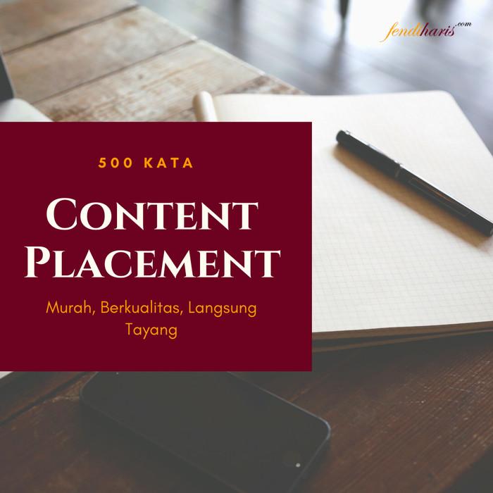 Foto Produk Layanan Content Placement Berkualitas Untuk Company, UMKM - 500 Kata dari fendihariscom