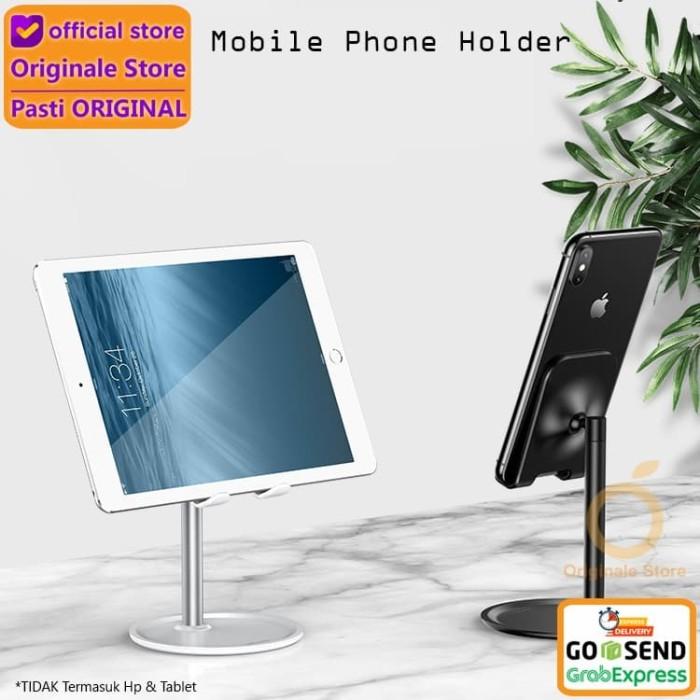 Foto Produk USAMS Phone Holder Desk Stand HP Tablet Universal - Silver dari Originale Store