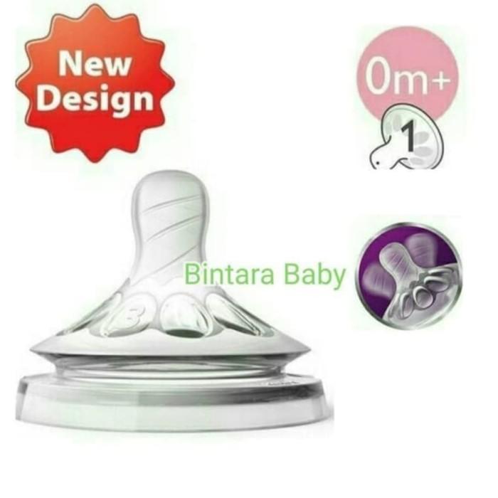 Foto Produk Dot Nipple Avent Natural Teat New Design Satuan - 0m Plus dari Bintara Baby