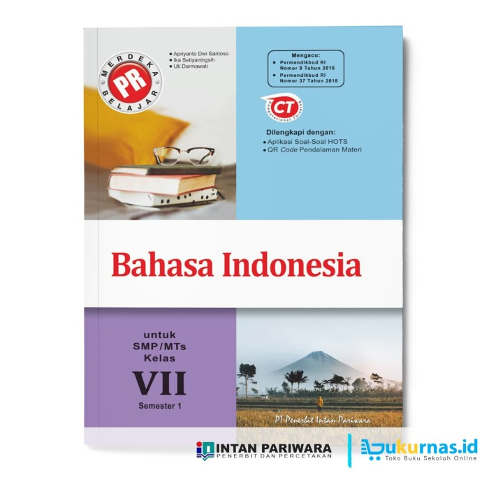 Jual Buku Pr Bahasa Indonesia Kelas 7 Semester 1 Lks Intan 2020 2021 Kab Sidoarjo Buku Kurnas Tokopedia