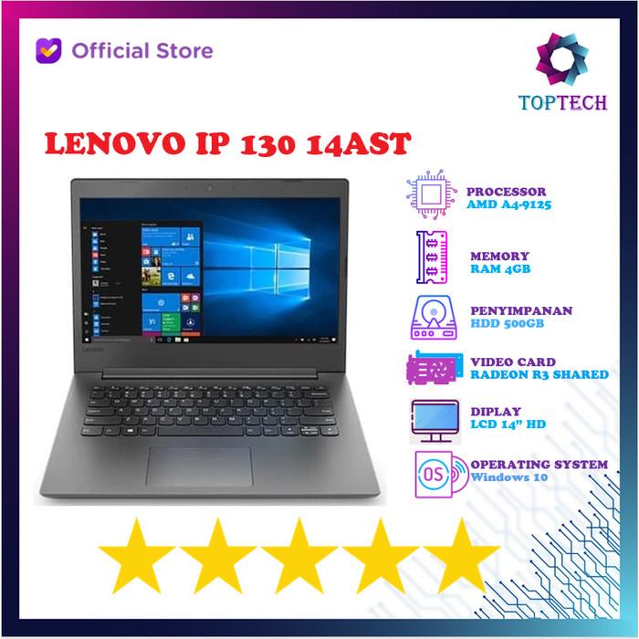 Jual Laptop Lenovo Ideapad 130 07id Amd A4 9125 4gb 500gb Radeon 14 W10 Hitam Jakarta Utara Top Tech Tokopedia