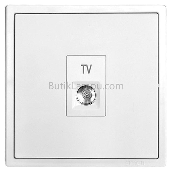 Foto Produk Soket Outlet TV Simon i7 Putih dari butiklampu