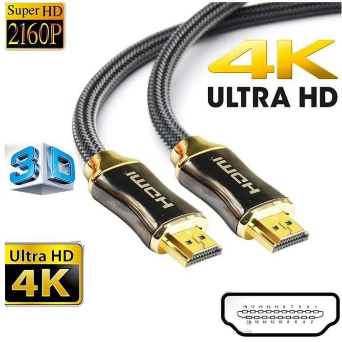 Foto Produk Kabel HDMI 3D 4K*2K High Speed 18Gbps 3 Meter - Hitam dari Majek Ilak Tech Store
