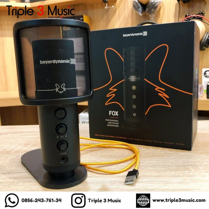 Foto Produk Beyerdynamic FOX mic condenser USB ORIGINAL dari triple3music