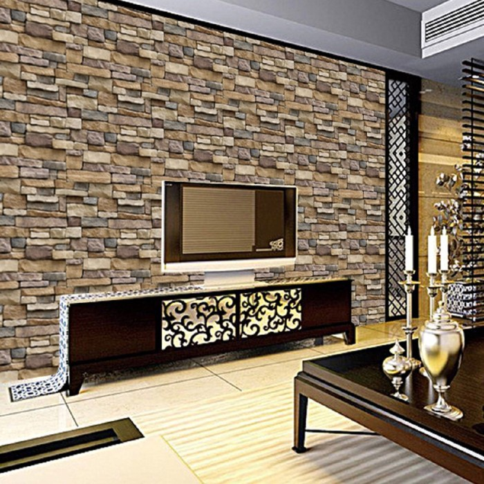 Jual 3d Brick Wall Paper Modern Removable Pvc Living Room Background Wall Kab Bogor Pelanginila Tokopedia
