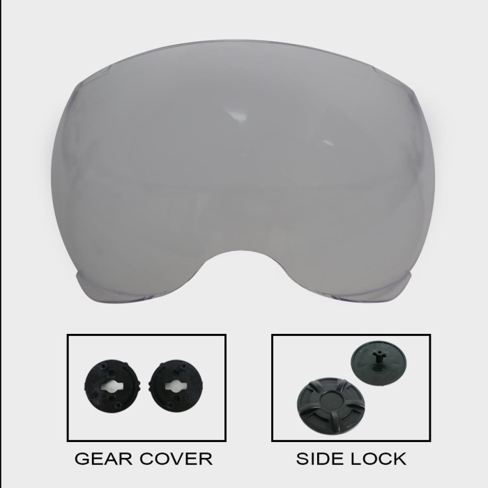 Foto Produk Paket Visor YR + Gear Visor + Sidelock YR dari Helm Cargloss