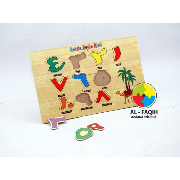 Foto Produk Mainan Edukasi Anak / Mainan Edukatif / Mainan Kayu- Puzzle Angka Arab dari Mainanalfaqih