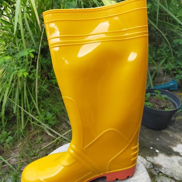 Foto Produk sepatu apd k3 medis karet pvc steffi panjang kuning tinggi murah dari Sentral Stationery