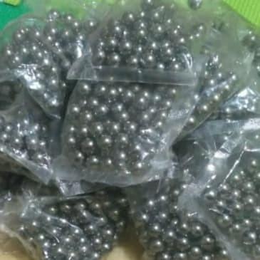 """Foto Produk Gotri Steel Ball Bola Baja 5/16"""" (8 mm) As Tengah Keroncong Sepeda dari SR Bikes"""