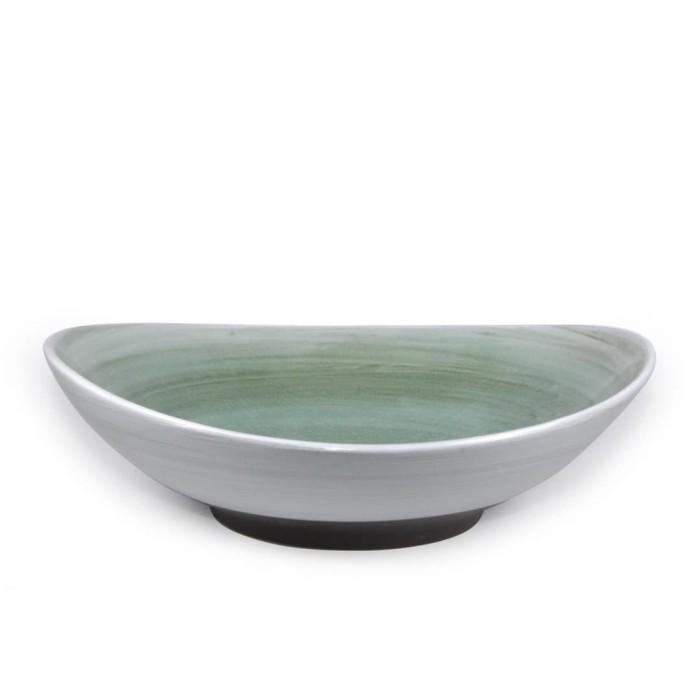 Foto Produk Artisan Ceramic | Chogja Brown Green Pasta Bowl | Mangkok Keramik dari Artisan Ceramic