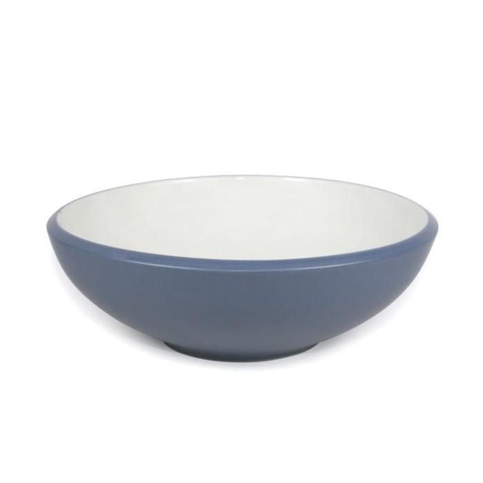 Foto Produk Artisan Ceramic | Cream- Peacock Edge Bowl| Mangkok Keramik dari Artisan Ceramic