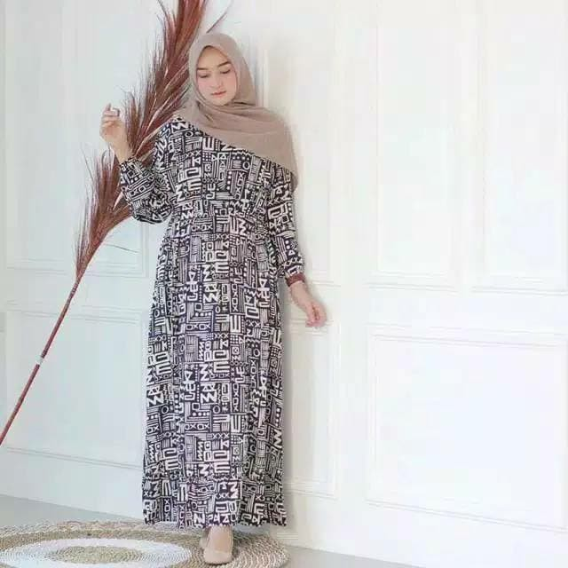 Foto Produk Gamis Bangkok / Gamis Rayon Viscone / HomeyDress / Homey Dress Etnik / dari ayu rindu