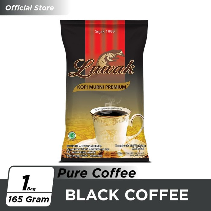 Foto Produk Kopi Luwak Murni Black Coffee Bag 165gr dari Kopi Luwak Official