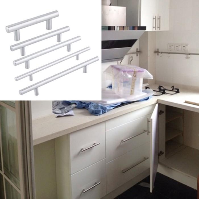 Jual Hyp Practical Stainless Steel Kitchen Door Cabinet T Bar Handle Pull Jakarta Barat Grey Finest Tokopedia