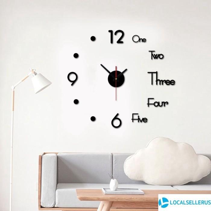 Jual 3d Modern Wall Clock Sticker Loc Jakarta Pusat Barokah Makmur Shop Tokopedia