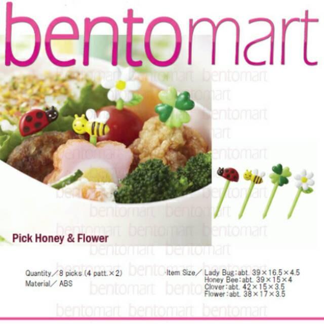 Jual Food Pick Honey Flower Alat Bento Jakarta Selatan Muslikhahsd43 Mall Tokopedia