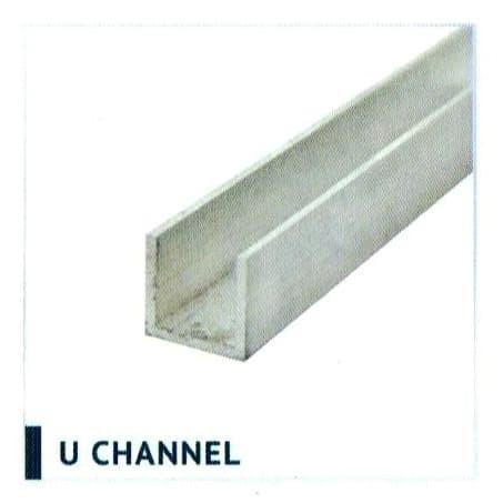 Jual U Channel Aluminium Rel Bawah Pintu Lipat 200 cm U ...