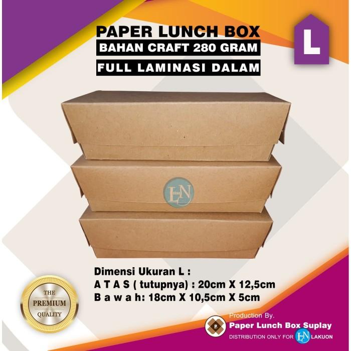 Foto Produk PAPER LUNCH BOX CRAFT / KEMASAN MAKANAN / PAPER TAKE AWAY / UKURAN L dari LAKUON