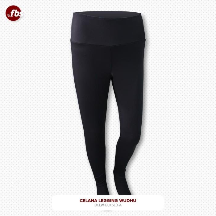 Foto Produk FBS Celana Legging Wudhu Hitam XL & XXL Muslimah Leging Premium - XL dari FBS - Flower Body Sports