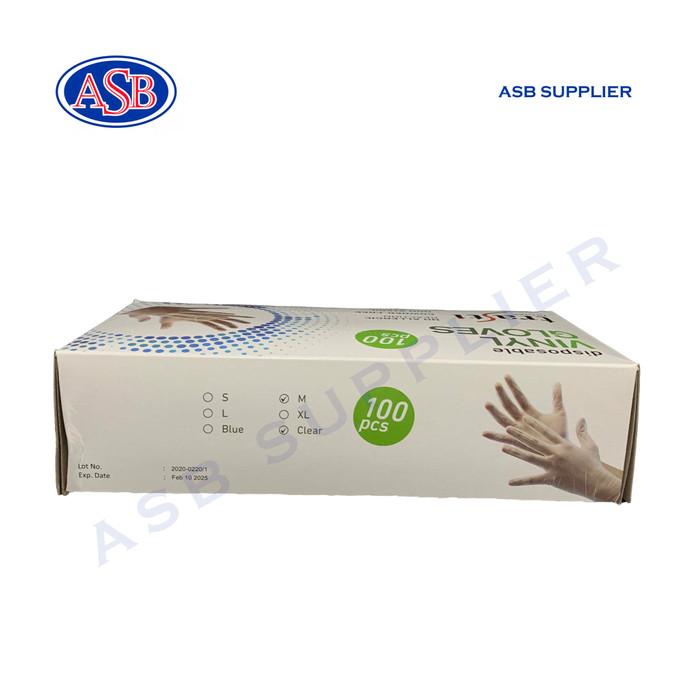 Foto Produk Sarung Tangan Karet / Vinyl Gloves TEBAL Trasti Size M dan L (100 pcs) - M dari ASB SUPPLIER
