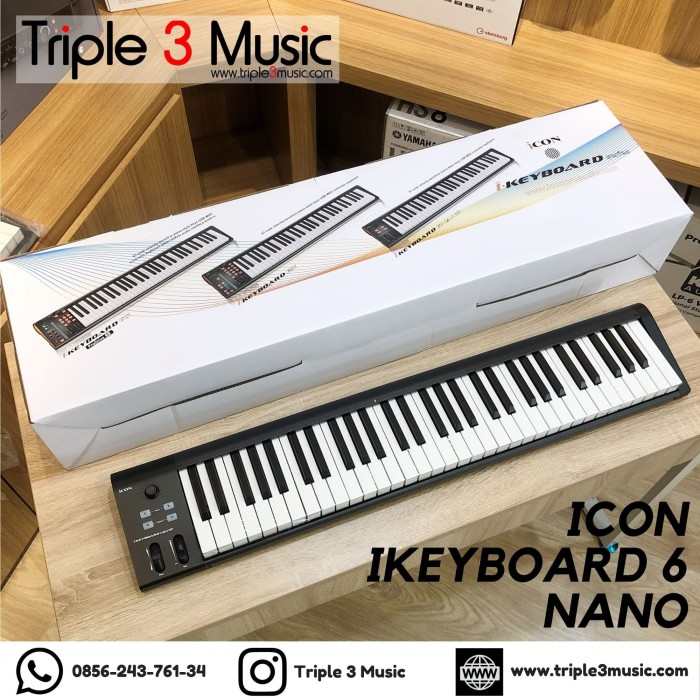 Foto Produk ICON iKeyboard 6 Nano Keyboard Midi Controller GARANSI RESMI ORIGINAL dari triple3music