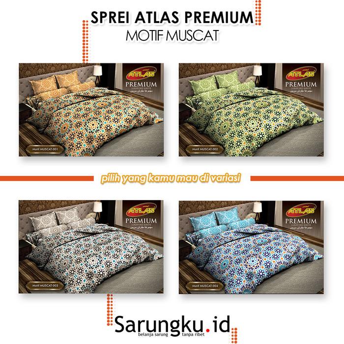 Foto Produk SPREI ATLAS PREMIUM MOTIF MUSCAT - Cover dari SarungkuID