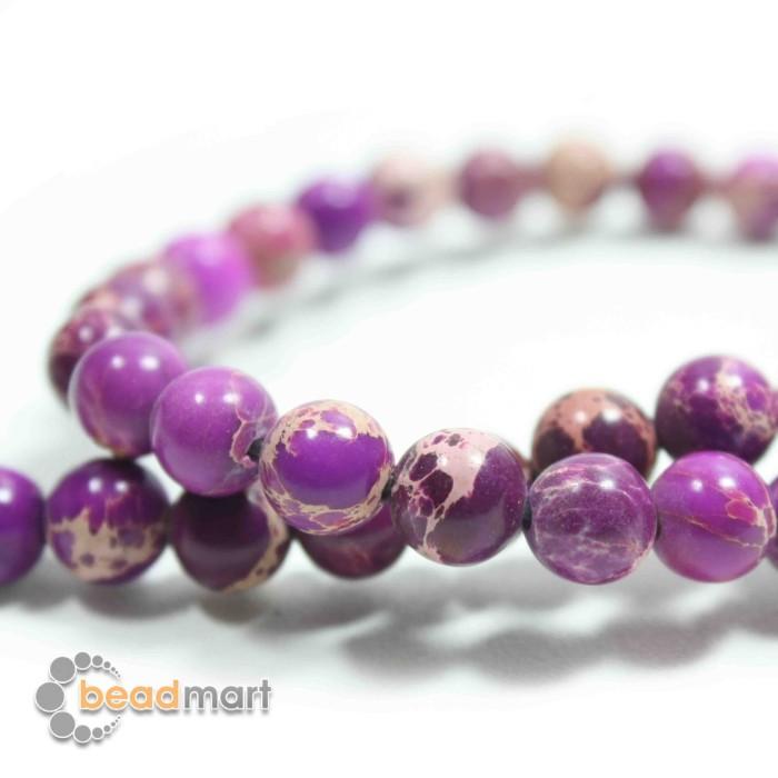 Foto Produk Manik Batu Alam, Emperor Purple, 1 Renteng, Bahan Aksesoris - 8mm dari Beadmart