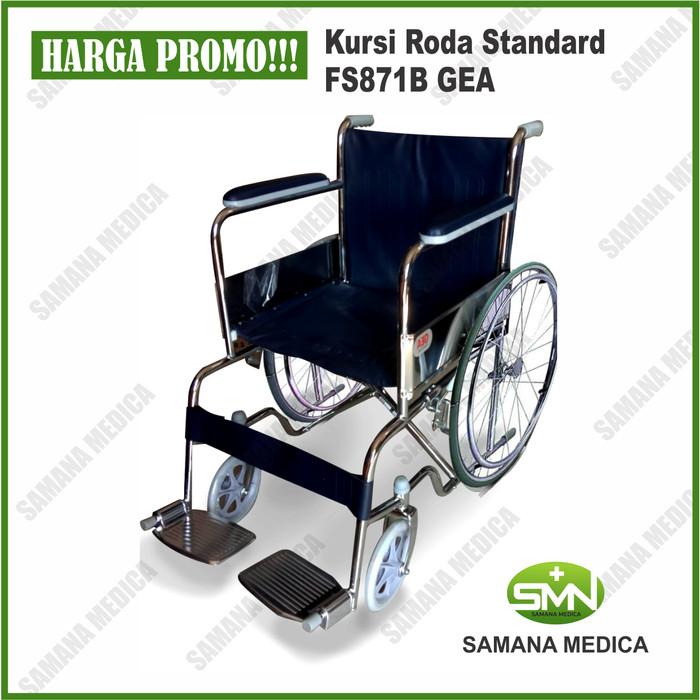 Foto Produk Kursi Roda Wheel Chair Standar FS871 Murah Gea non Onemed dari Samana Medica