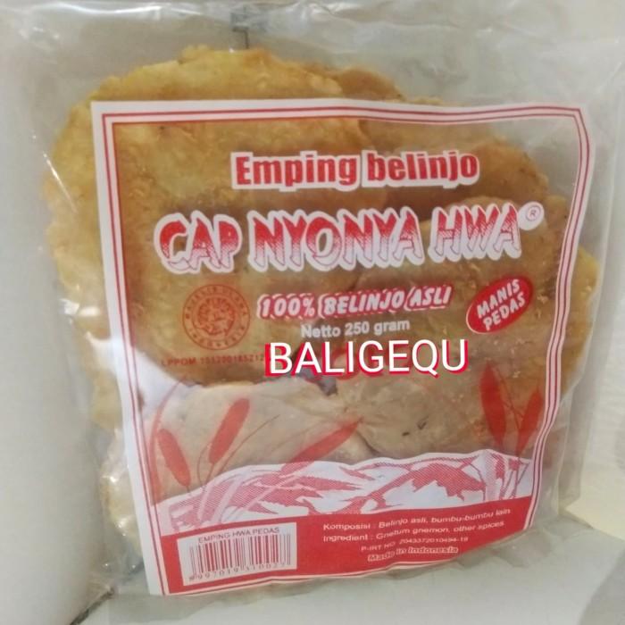 Foto Produk Emping Melinjo/Belinjo Pedas Mentah Cap Nyonya Hwa dari Baligequ