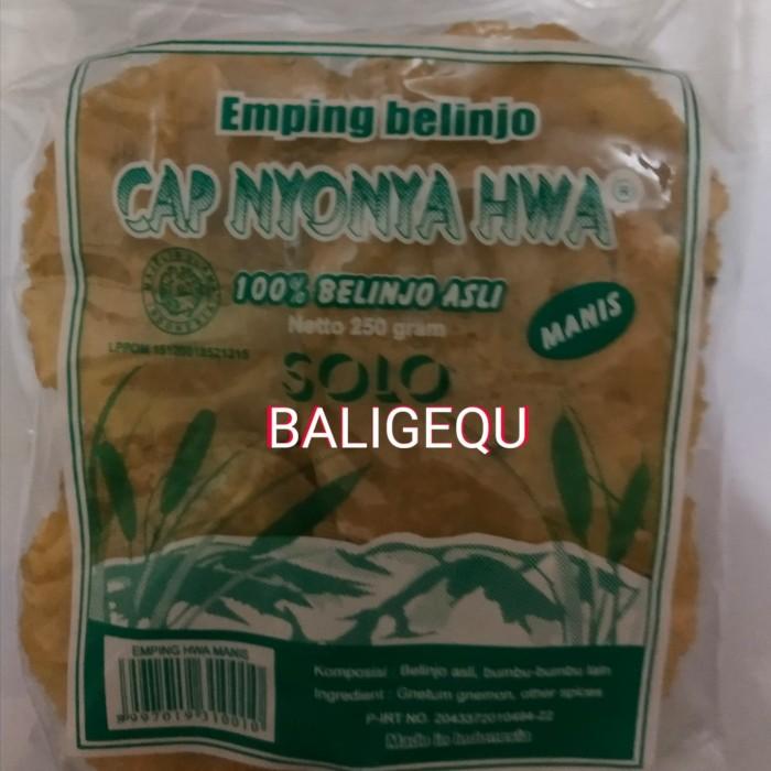 Foto Produk Emping Melinjo/Belinjo Manis Mentah Cap Nyonya Hwa dari Baligequ