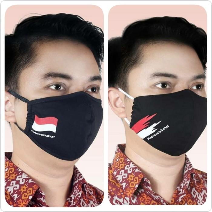 Foto Produk Masker Batik Keris Bendera Merah Putih (Black) - 1 dari Kaia Boutique