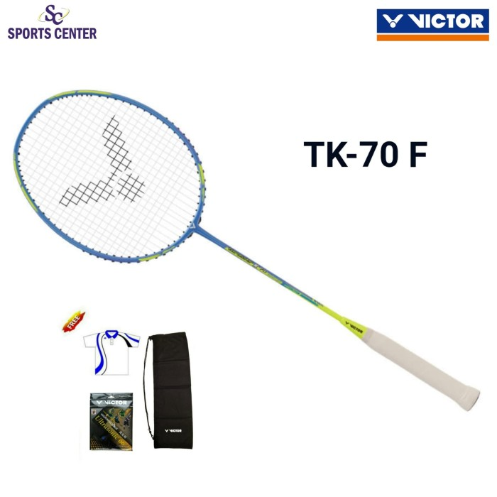 Foto Produk NEW !! Raket Badminton Victor Thruster K 70 / TK 70 / TK-70 F (+-70g) dari Sports Center