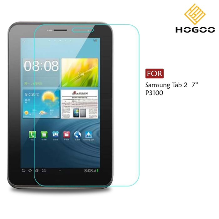 Foto Produk TEMPERED GLASS SAMSUNG GALAXY TAB 2 7.0 INCH ( P3100 ) dari Accessories Solution(AS)