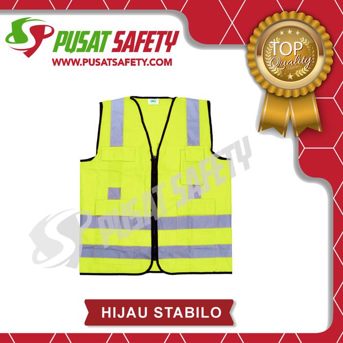 Foto Produk Rompi Kerja Safety 4 Kantong Scotlight - Hijau Stabilo dari Pusat Safety Online